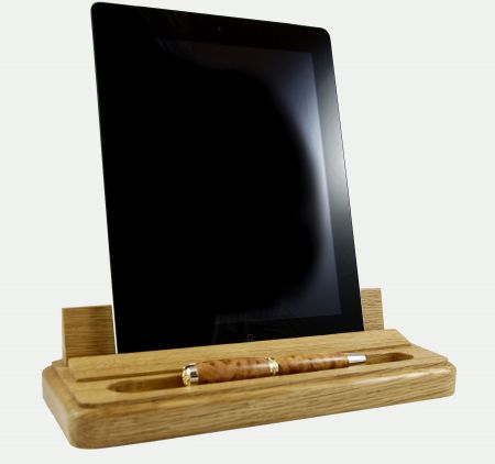iPad Holder Oak