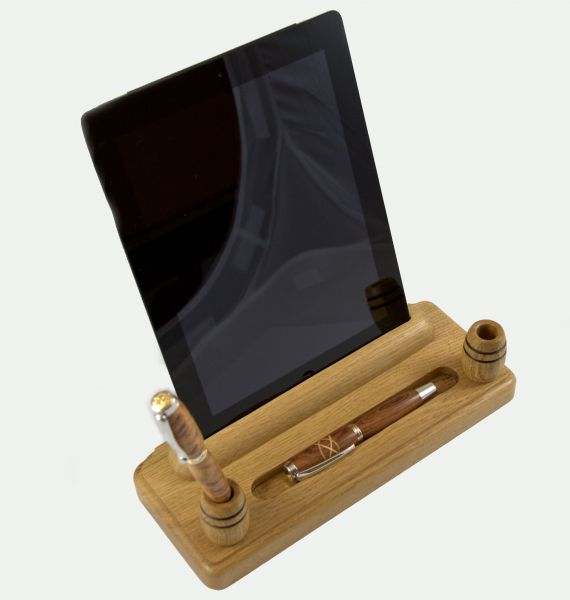 Desk Set with iPad Holder natural oak